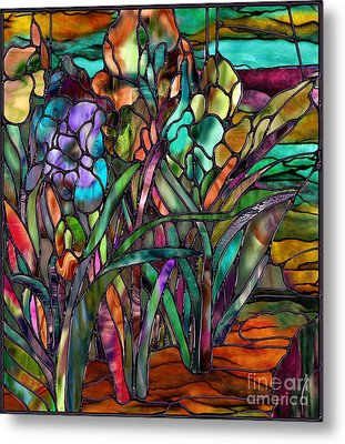 Candy Coated Irises Metal Print by Mindy Sommers