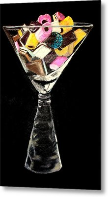 Candy In Glass  Metal Print