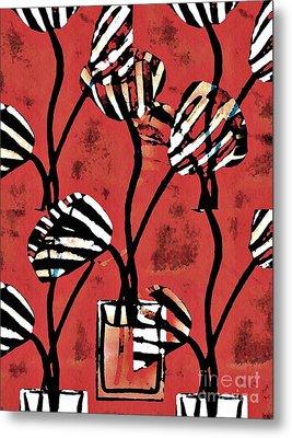 Candy Stripe Tulips 2 Metal Print by Sarah Loft