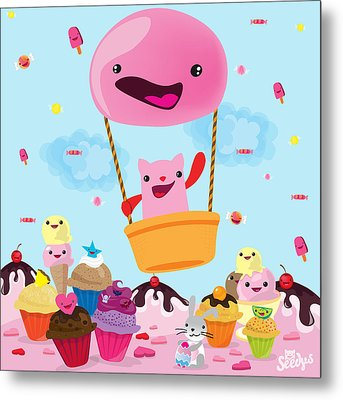Candy World Metal Print by Seedys World