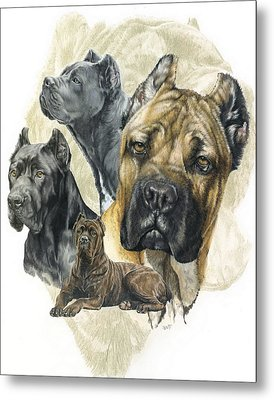 Cane Corso W/ghost Metal Print by Barbara Keith