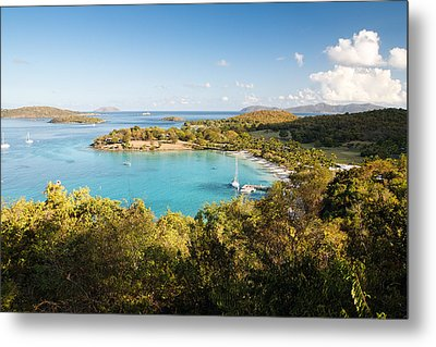 Caneel Bay Panorama Metal Print by George Oze