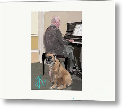 Canine Composition Metal Print