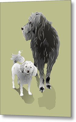Canine Friendship Metal Print by MM Anderson