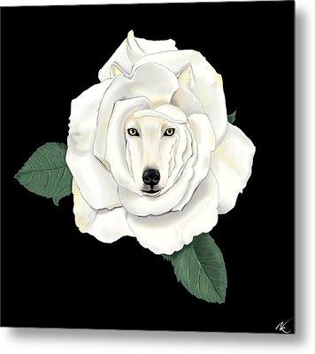 Canis Rosa Metal Print