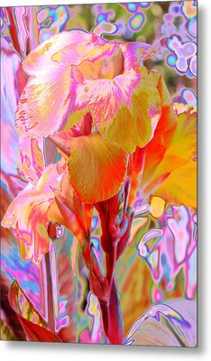 Canna Abstract 3 Metal Print by M Diane Bonaparte