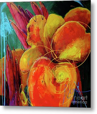 Canna Lily Metal Print by Roxanne Fawcett