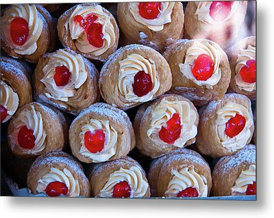 Metal Print featuring the photograph Cannoli by Harry Spitz