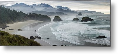 Cannon Beach Oregon Pano Metal Print