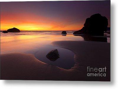 Cannon Beach Sunset Metal Print by Mike  Dawson