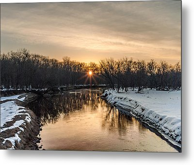 Cannon River Sunrise Metal Print