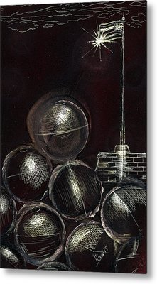 Cannonball Metal Print