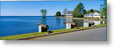 Cannons And Barker House From 1762 Metal Print