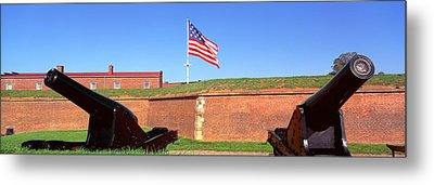 Cannons And Wall At Fort Mchenry Metal Print