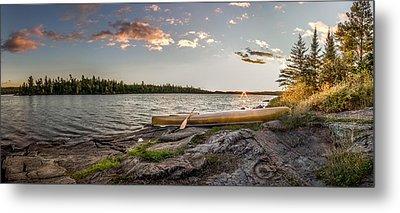 Canoe // Bwca, Minnesota  Metal Print by Nicholas Parker