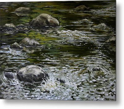 Canoe Painting 4 Metal Print by Jason Sawtelle