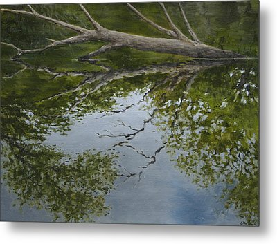 Canoe Painting 6 Metal Print by Jason Sawtelle