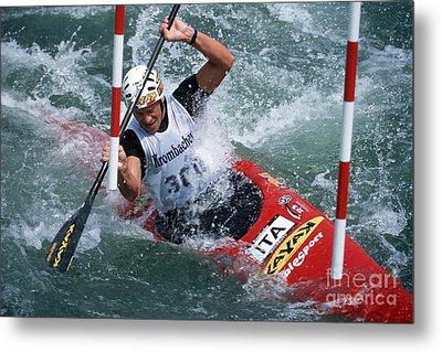 Canoe Slalom 1 Metal Print by Rudi Prott