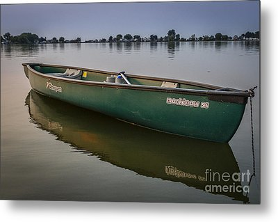 Canoe Stillness Metal Print
