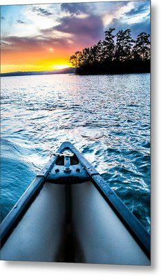 Canoeing In Paradise Metal Print by Parker Cunningham