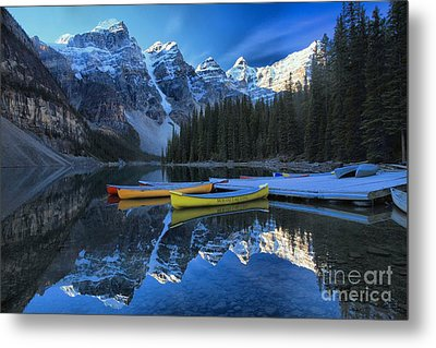 Canoes In Paradise Metal Print by Adam Jewell