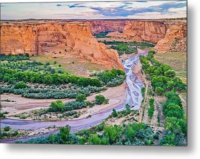 Tsegi Sundown - Canyon De Chelly National Monument Photograph Metal Print