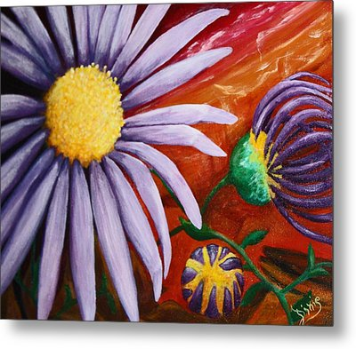 Canyon Flower Metal Print by Dixie Hester