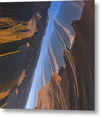 Metal Print featuring the digital art Canyon by Lyle Hatch