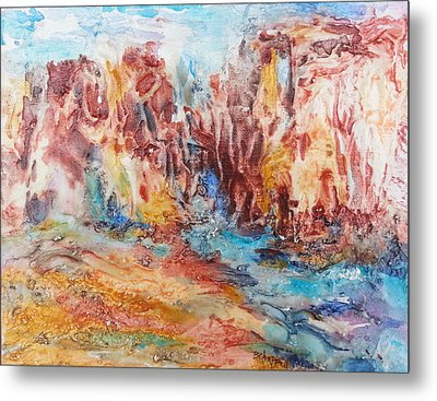 Canyon Mouth Metal Print by Becky Chappell