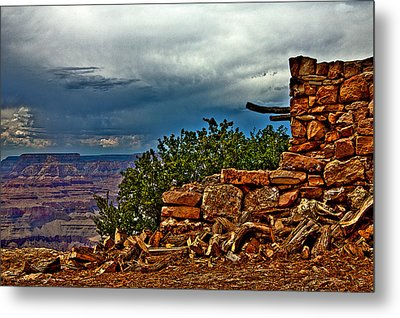 Canyon Outlook Metal Print by William Wetmore