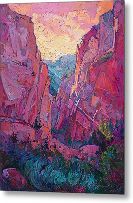 Canyon Rays Metal Print by Erin Hanson