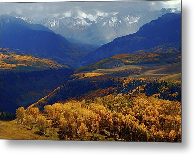 Metal Print featuring the photograph Canyon Shadows And Light From Last Dollar Road In Colorado During Autumn by Jetson Nguyen