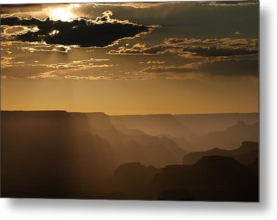 Canyon Strata Metal Print by Steve Gadomski