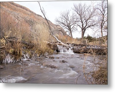 Canyon Stream Current Metal Print