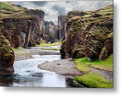 Canyon Vista Metal Print by William Beuther