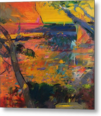 Cap Canaille Sunset Metal Print by Peter Graham