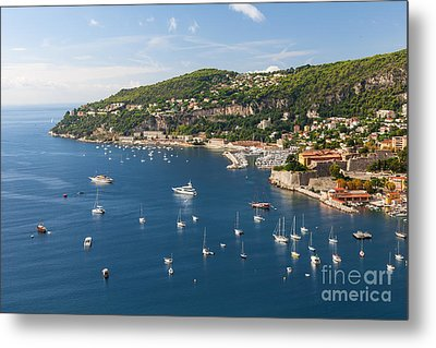 Cap De Nice And Villefranche-sur-mer On French Riviera Metal Print by Elena Elisseeva