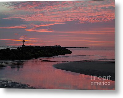 Cape Charles Pink Sunset Metal Print