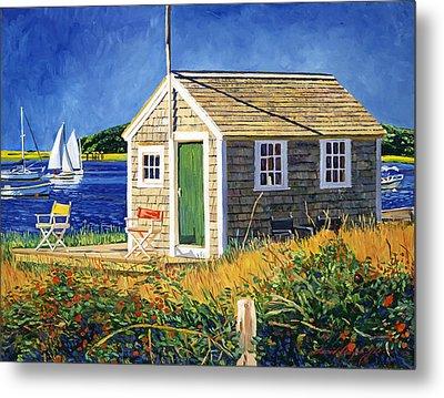 Cape Cod Boat House Metal Print