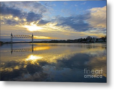 Cape Cod Canal Sunrise Metal Print by Amazing Jules