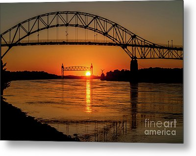 Cape Cod Canal Sunset Metal Print