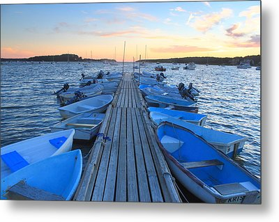 Cape Cod Harbor Boats Metal Print