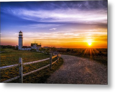 Cape Cod Light Metal Print