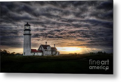 Cape Cod Lighthouse Metal Print by TK Goforth