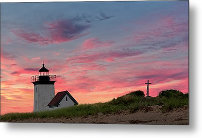 Metal Print featuring the photograph Cape Cod Long Point Light by Bill Wakeley