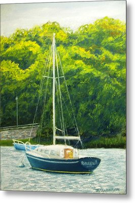 Cape Cod Sailboat Metal Print by Joan Swanson
