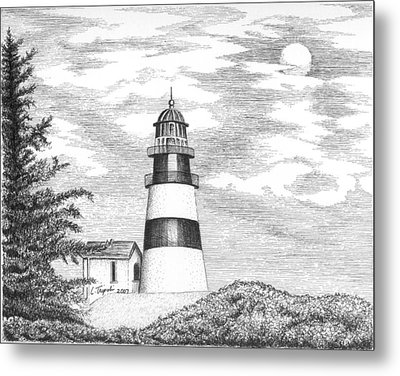Cape Disappointment Lighthouse Metal Print by Lawrence Tripoli