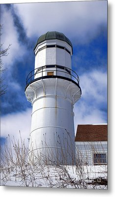 Cape Elizabeth Western Lighthouse Metal Print by Olivier Le Queinec
