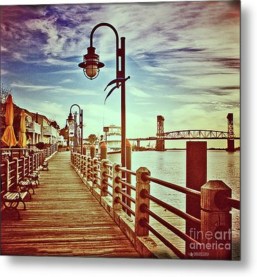 Cape Fear River Front Metal Print by Phil Mancuso