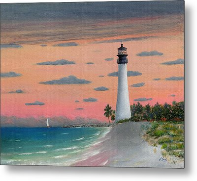 Cape Florida Light Metal Print